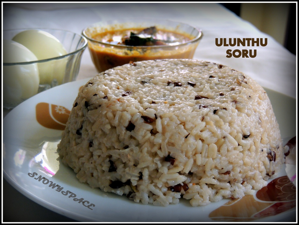 A real Power food!!! (Ulunthu Soru (BlackGram Rice) Recipe)