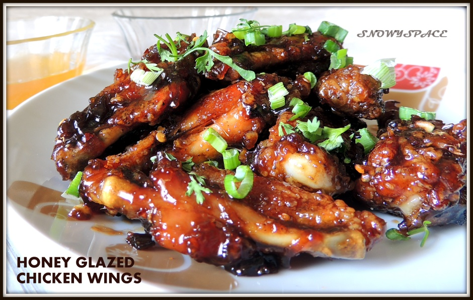 Honey, I've baked the wings!!! (Honey glazed Chicken wings Recipe)