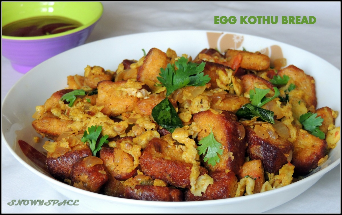 A quick fix for your hunger, Egg Kothu Bread (Recipe)